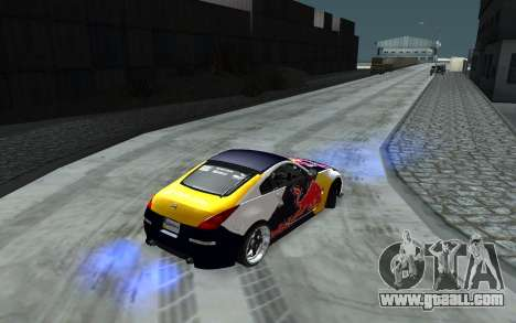 Nissan 350Z Red Bull for GTA San Andreas upper view