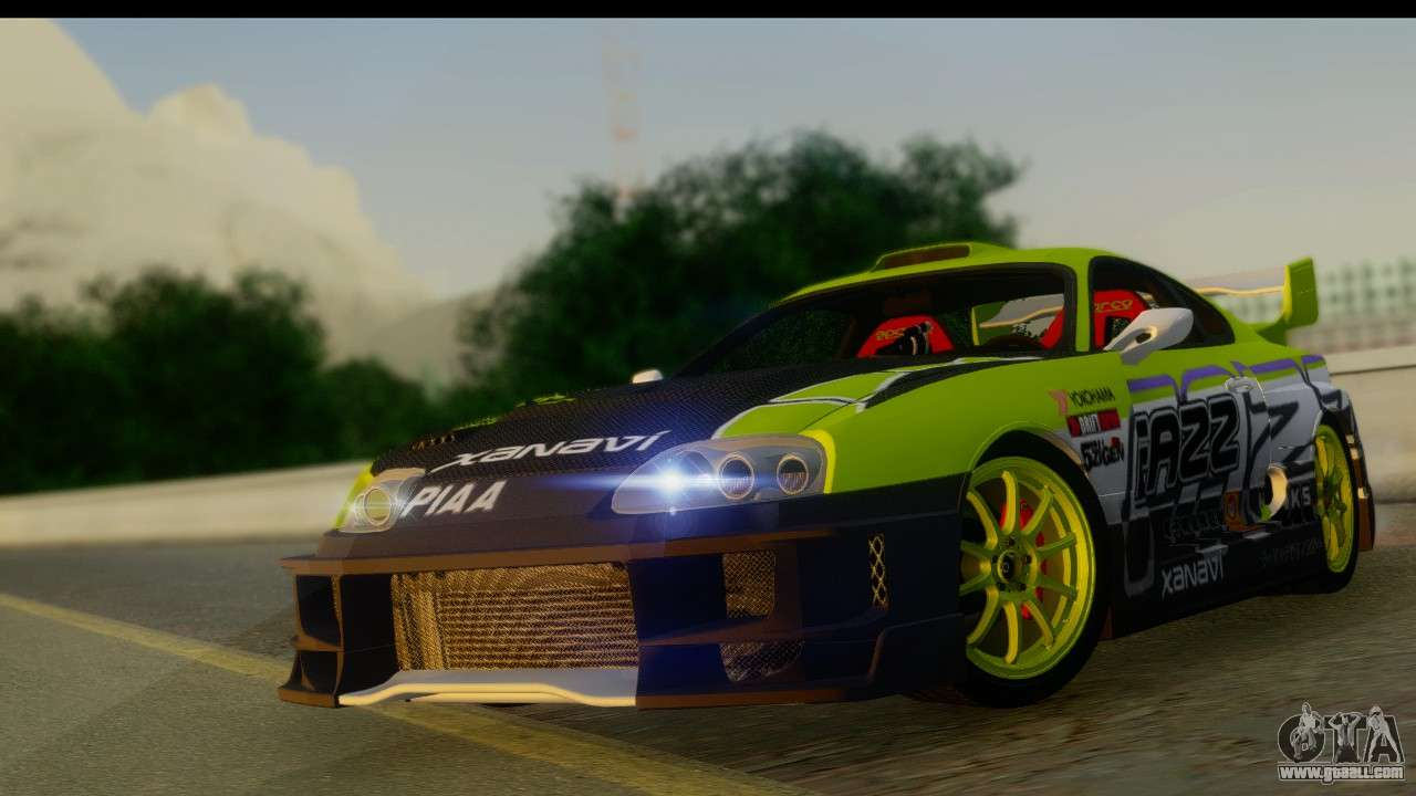 7 Passenger Vehicles >> Toyota Supra Drift for GTA San Andreas