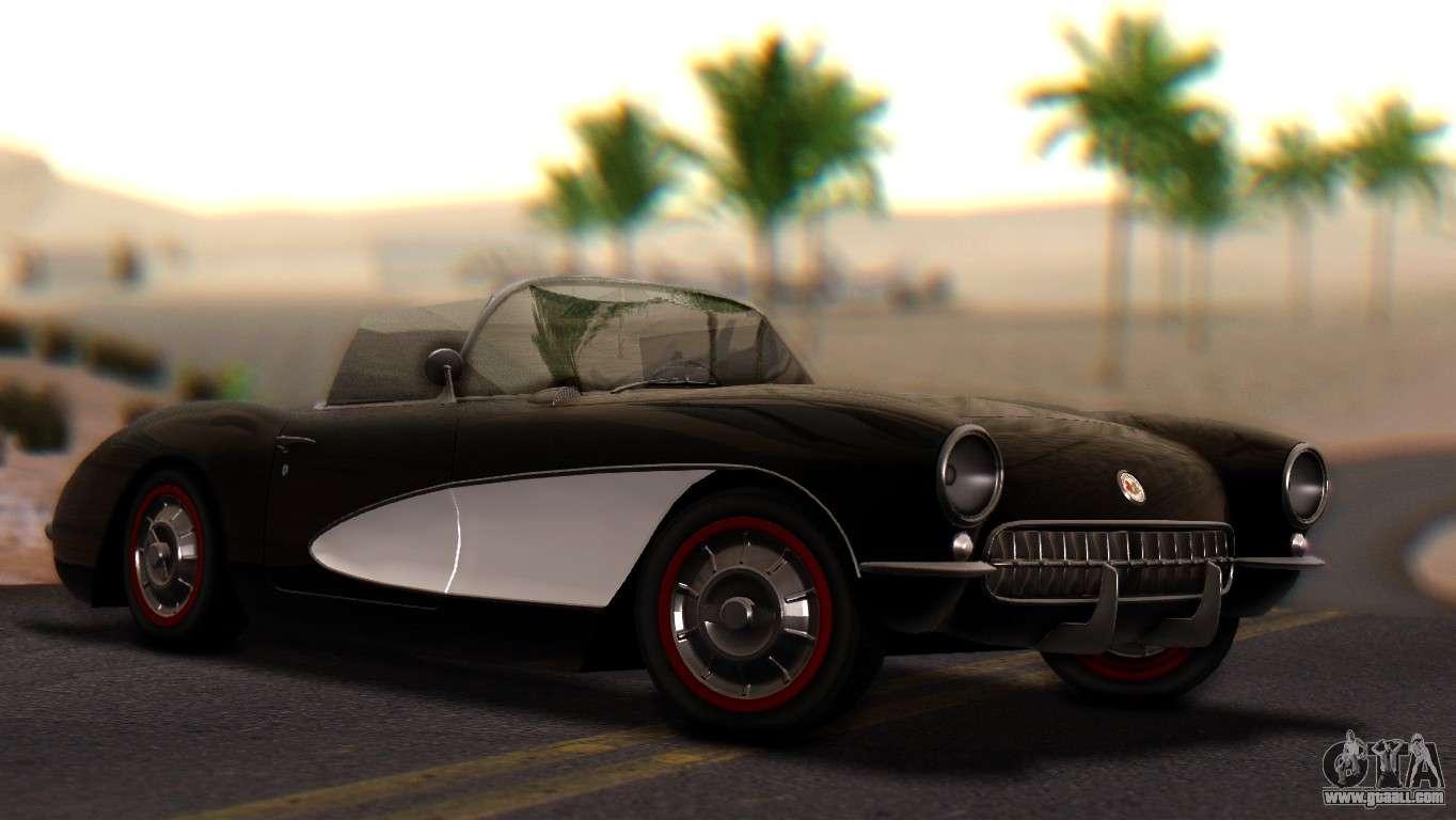 chevrolet corvette c1 1962 pj for gta san andreas. Black Bedroom Furniture Sets. Home Design Ideas