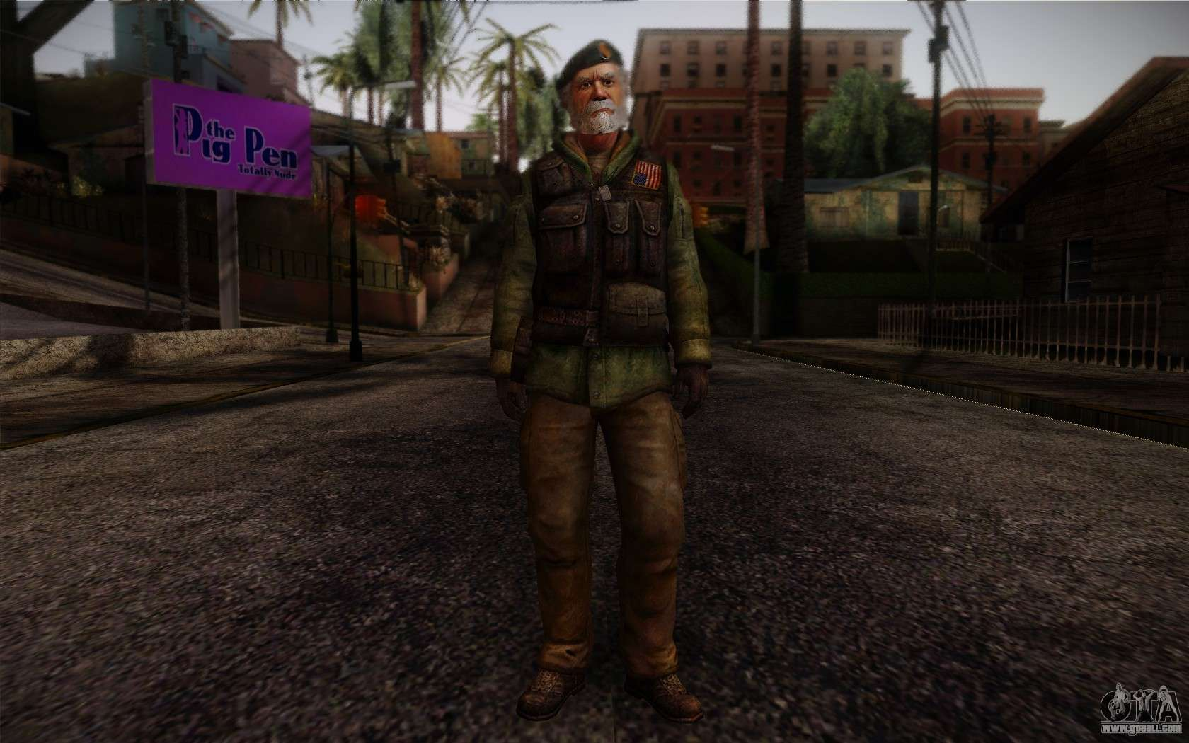 Francis from Left 4 Dead Beta for GTA San Andreas