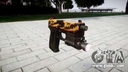 Gun HK USP 45 tiger for GTA 4
