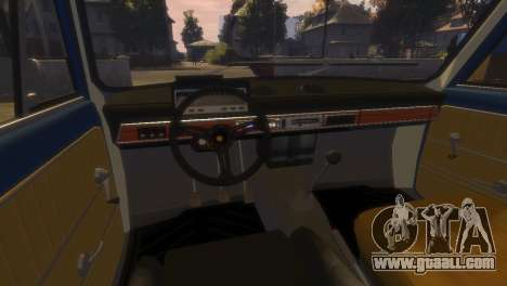 VAZ 2101 for GTA 4 bottom view