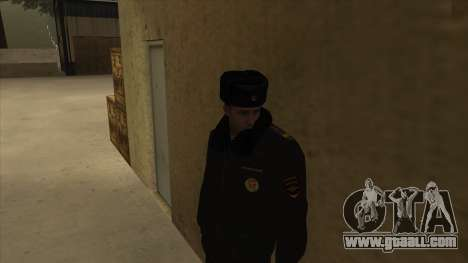 Police in Russia - winter form for GTA San Andreas third screenshot