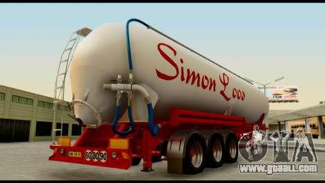 Mercedes-Benz Actros Trailer Simon Loos for GTA San Andreas left view