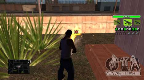 Light Green C-HUD for GTA San Andreas third screenshot