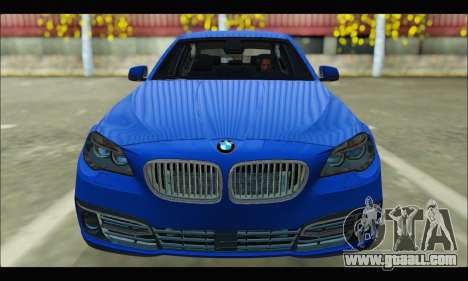 BMW 5 series F10 2014 for GTA San Andreas back view