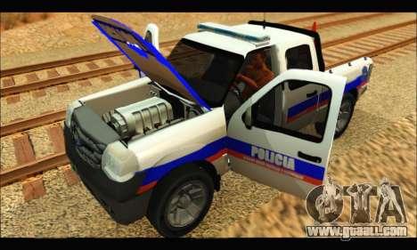 Ford Ranger 2011 Policia Bonaerense for GTA San Andreas right view