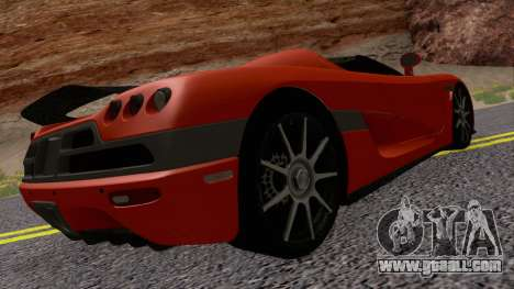 Koenigsegg CCX 2006 Road Version for GTA San Andreas right view