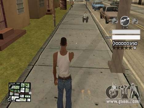 C-HUD Gray for GTA San Andreas second screenshot