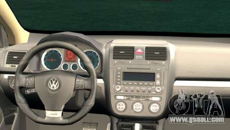 Volkswagen Golf Mk5 for GTA San Andreas back left view