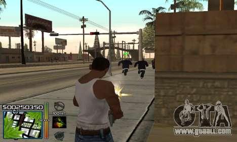 С-HUD RastaMan for GTA San Andreas