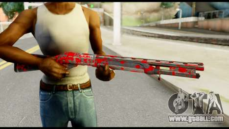 Combat Shotgun with Blood for GTA San Andreas third screenshot