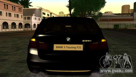 BMW 3 Touring F31 2013 1.0 for GTA San Andreas back view
