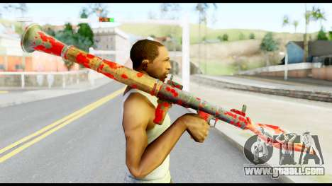 Rocket Launcher with Blood for GTA San Andreas third screenshot