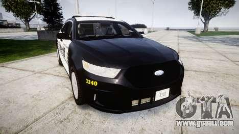 Ford Taurus 2014 Sheriff [ELS] for GTA 4