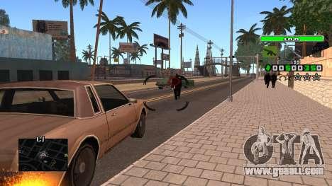 Light Green C-HUD for GTA San Andreas forth screenshot