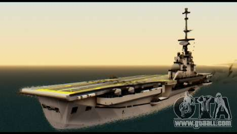 Colossus Aircraft Carrier for GTA San Andreas left view