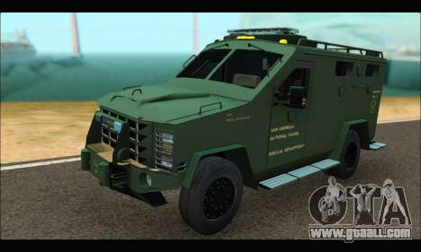 Lenco Bearcat SANG MedEvac 2009 for GTA San Andreas