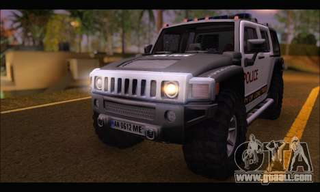Hummer H3 Police for GTA San Andreas