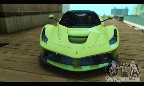 Ferrari LaFerrari 2014 for GTA San Andreas right view