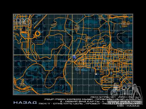 Map with sectors in racing style for GTA San Andreas second screenshot