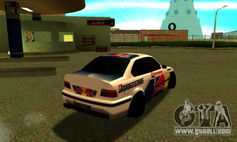 BMW M3 E36 RedBull for GTA San Andreas right view