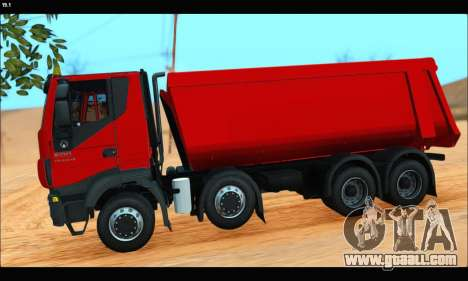 Iveco Trakker 2014 Tipper (IVF & ADD) for GTA San Andreas left view