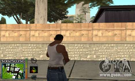 С-HUD RastaMan for GTA San Andreas third screenshot