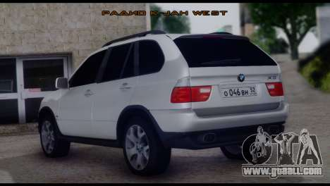BMW X5 E53 for GTA San Andreas left view