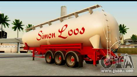 Mercedes-Benz Actros Trailer Simon Loos for GTA San Andreas