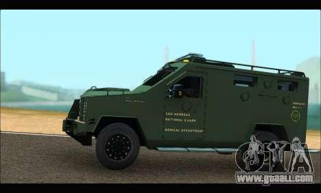 Lenco Bearcat SANG MedEvac 2009 for GTA San Andreas left view