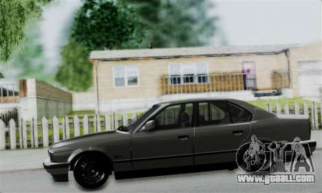 BMW 525 E34 Rims for GTA San Andreas back view