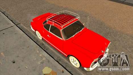 Volkswagen Karmann Ghia for GTA San Andreas right view