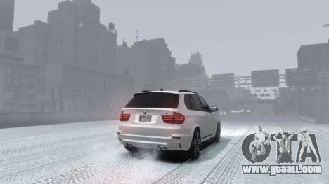 BMW X5M 2011 for GTA 4 left view