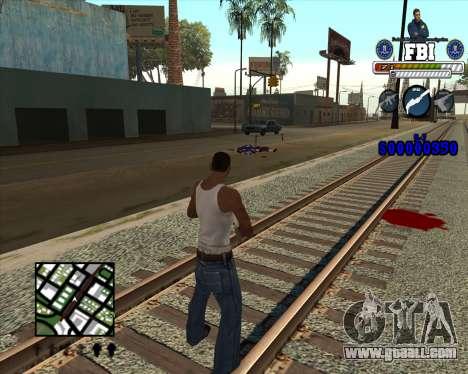C-HUD for FBI for GTA San Andreas third screenshot