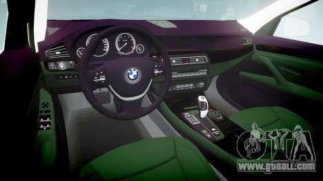BMW 525d F11 2014 Facelift Civilian for GTA 4 inner view