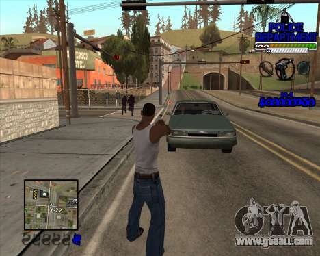 PD HUD for GTA San Andreas second screenshot