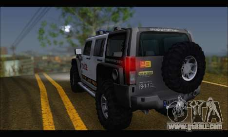 Hummer H3 Police for GTA San Andreas left view