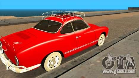 Volkswagen Karmann Ghia for GTA San Andreas back left view