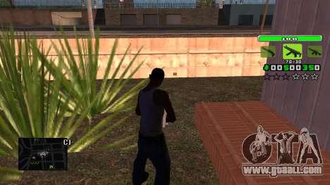 Light Green C-HUD for GTA San Andreas second screenshot