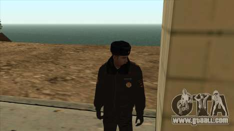 Police in Russia - winter form for GTA San Andreas second screenshot