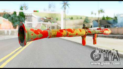 Rocket Launcher with Blood for GTA San Andreas second screenshot