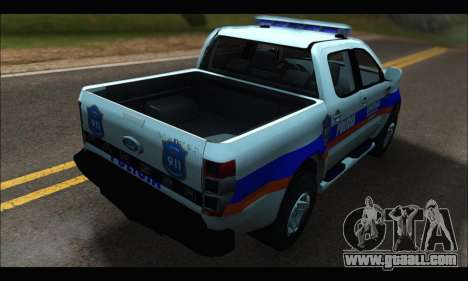 Ford Ranger P.B.A 2015 Text2 for GTA San Andreas back left view