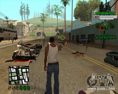 C-HUD for Groove for GTA San Andreas third screenshot