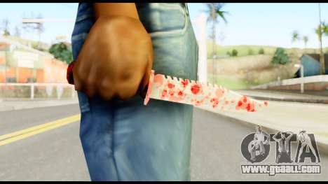 Knife with Blood for GTA San Andreas third screenshot