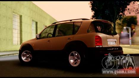 SsangYong Rexton 2005 for GTA San Andreas back left view