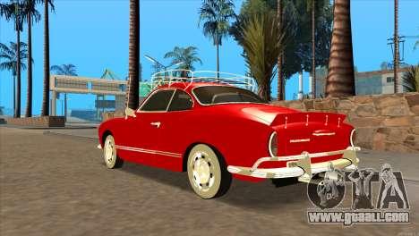 Volkswagen Karmann Ghia for GTA San Andreas left view