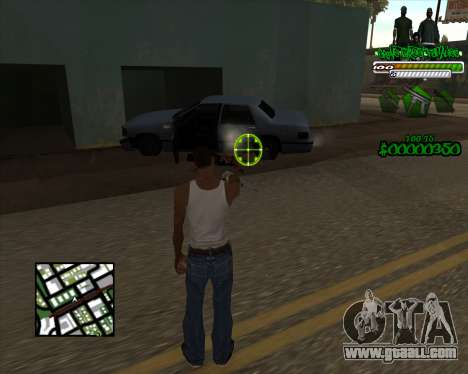 C-HUD for Groove for GTA San Andreas second screenshot