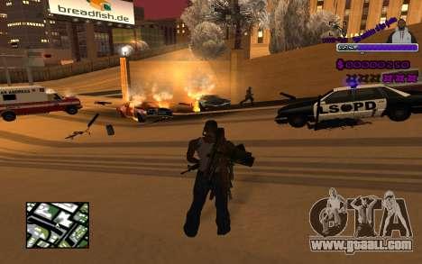 С-HUD Ghetto for GTA San Andreas second screenshot
