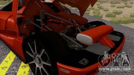 Koenigsegg CCX 2006 Road Version for GTA San Andreas back view